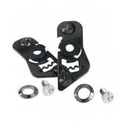 KIT DE FIXATION VISIERE ICON VARIANT NOIR CASQUE MOTO SHIELD IC-03
