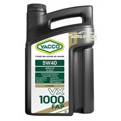 HUILE MOTEUR YACCO 5W40 VX 1000 FAP 5 LITRES