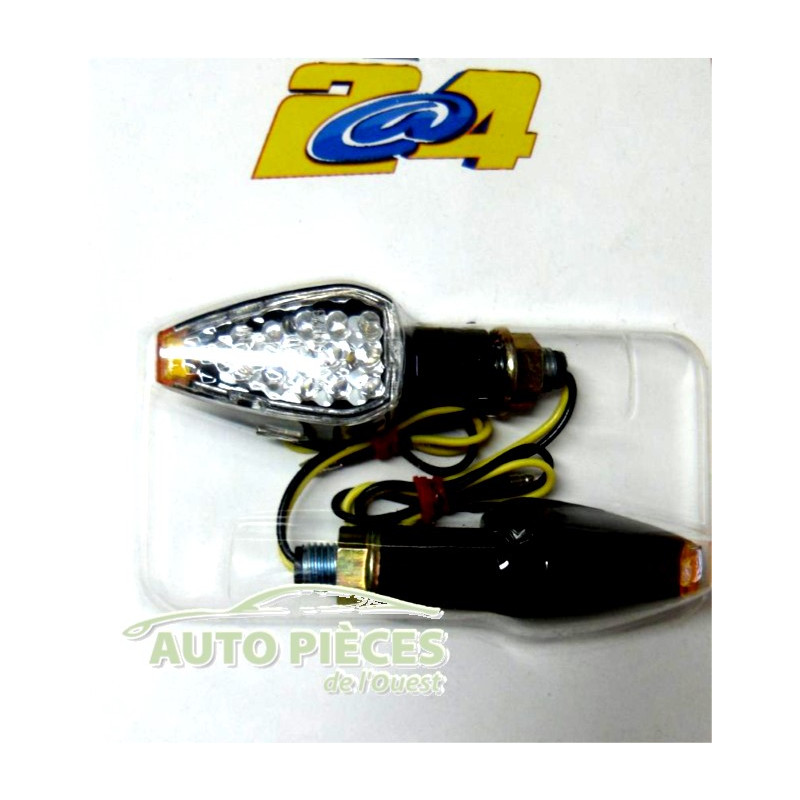 Clignotants 2 roues 12v 1w 14 leds adaptable scooter quad for 1 1 2 box auto