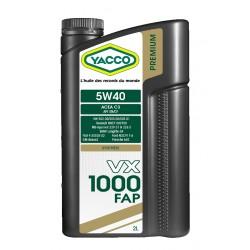 HUILE MOTEUR YACCO 5W40 VX 1000 FAP 2 LITRES