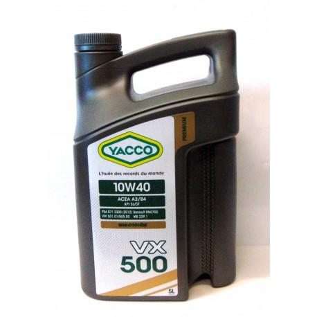 Huile Moteur Yacco 10w40 Vx 500 5 Litres Vx500 Ref Yac3031 5l