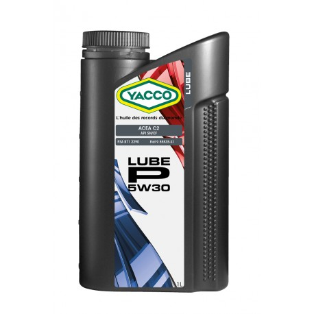 huile moteur yacco 5w30 lube p 2 litres. Black Bedroom Furniture Sets. Home Design Ideas