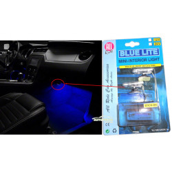 2 LAMPES INTERIEUR LUMIERES BLEUES 12V VOITURE TUNNIG