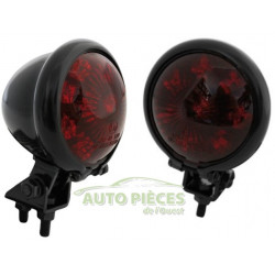 FEU ARRIERE LED ROUGE STYLE BATES SHIN YO 653392 CUSTOM CHROME 4054783032501