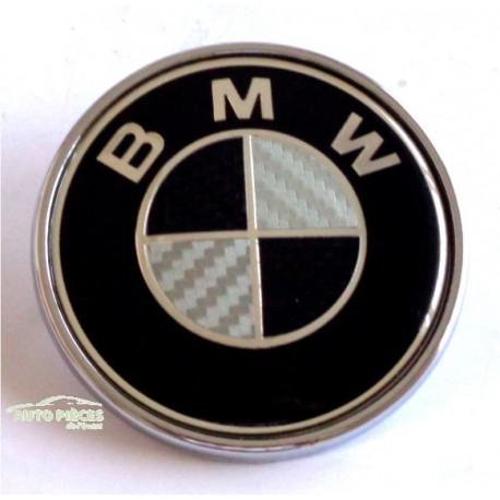 SIGLE EMBLEME LOGO BMW 74MM 51148132375 COFFRE BMW NOIR