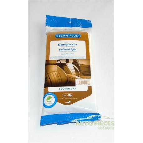 nettoyant cuir lingettes voiture lustrilux clean plus lingettes 01440403. Black Bedroom Furniture Sets. Home Design Ideas