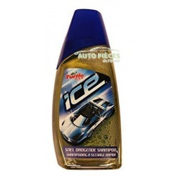 SHAMPOING NETTOYANT AUTO A SECHAGE RAPIDE TURTLE WAX ICE 500 ML