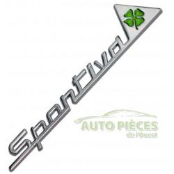 EMBLEME LOGO 3D METAL SPORTIVA QUADRIFOLIO VERT 156 166 159 GIULIETTA BADGE AUTOCOLLANT ARAIGNEE GT