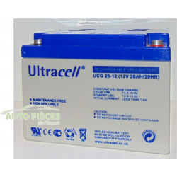 BATTERIE SOLAIRE GEL 26Ah 12v ULTRACELL