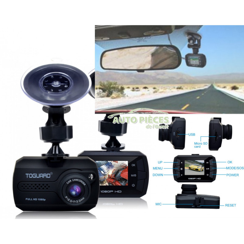 camera embarquee voiture full hp 1080p mini dash camera toguard. Black Bedroom Furniture Sets. Home Design Ideas